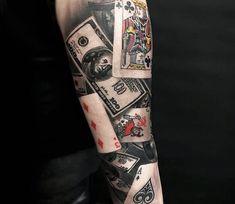 Card Game tattoo by Cox Tattoo