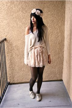 Lace and knit