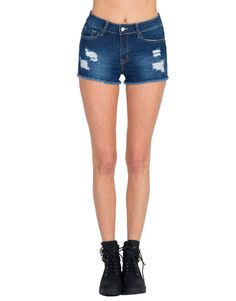 Klique B - Distressed Denim Shorts   2020AVE #spring #trendy