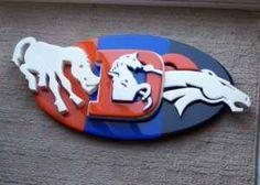 Denver broncos | Denver Broncos 3D wooden wall plaque...all 3 logos! - $90 ...