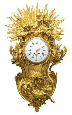 A Louis XV-style gilt-bronze cartel clock, French, circa 1880 Antique Desk, Antique Clocks, Irish Art, European Paintings, Old Master, Art Decor, Art Nouveau, Modern Art, Auction