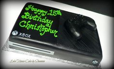 Xbox One Black Controller Video Game Cake Lake House Cake by Shannon