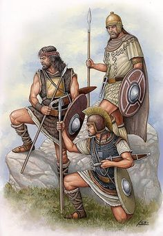 Celt Iberian warriors in Carthaginian service. The Spanish made up a significant portion of the Carthaginian Army most notably in the second Punic War.