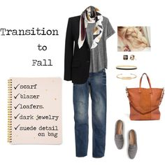 Transition to Fall by bluehydrangea on Polyvore featuring Madewell, J.Crew, Kate Spade, Stella & Dot and Sugar Paper