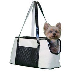 New At Felix Chien! - Ella Quilted Designer Dog Carrier (http://www.felixchien.com/ella-quilted-dog-tote/)