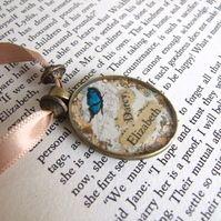 Necklace, Elizabeth & Darcy Pendant Free Uk P&P