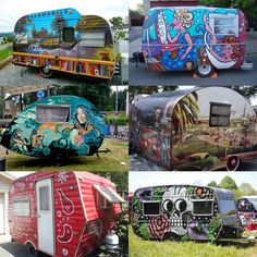 Would you get a funky paint job like these on your camper or RV?