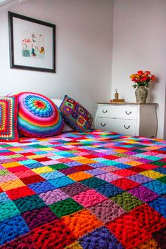"According to Matt...Latest ""Granny Square Blanket""...beautiful!"