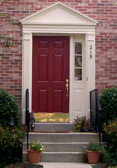 front door colors for red brick house lovely colored front doors best front door colors for red brick house uk Front Door Design, Front Door Colors, Entry Paint Colors, Door Shades, Front Door Entryway, Entryway Ideas, Side Door, Entry Doors, Front Porch