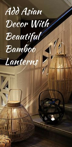 cost plus world market black bamboo lantern asian inspired lantern