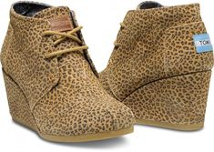 Cheetah Suede Women's Desert Wedges // Perfect gift for your boyfriends sister or your aunt or any lady in your life.