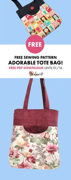 Easy-to-sew Tote Bag - Sewing Pattern via Makerist.com #freepattern #free #sewingwithmakerist #sewingpattern #sewing #totebag