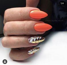 54 Tropical Nail Art Designs For Summer - nail models Ongles Plus Forts, Hair And Nails, My Nails, Tropical Nail Art, Gel Nail Polish Colors, Vacation Nails, Beach Nails, Oval Nails, Manicure E Pedicure