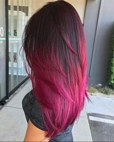 Gaya Rambut Dan Warna Rambut Tren 2019 - Cuayiz Godoy - Pin Hairstyles and Hair Color Trends 2019 - Pink Hair Tips, Pink Ombre Hair, Hot Pink Hair, Hair Color Pink, Hair Color And Cut, Cool Hair Color, Purple Tips, Brown And Pink Hair, Hot Hair Colors