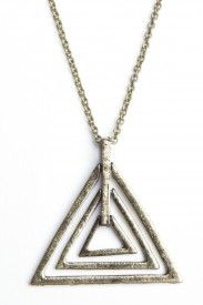 Triple triangle charm necklace