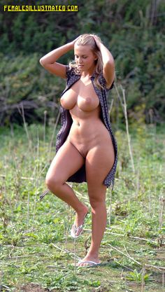 Pics of busty nude amateur women exposing naturally big tits & pussy in public places. Sexy big breasted naked girls show large boobs & wet pussies outdoors