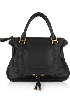 Chloe marcie large leather bag