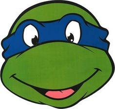 Masque en carton Léonardo Tortues Ninja™, décoration anniversaire et fêtes à thème sur Vegaoo Party