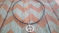 leather necklace mens necklace unisex necklace peace by buybling