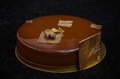 Торт с пеканом, темным шоколадом и маракуйей