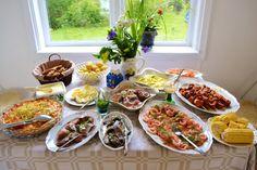 My Swedish midsummer buffé Summer Recipes, Holiday Recipes, Swedish Traditions, Scandinavian Food, Swedish Recipes, Home Baking, Pastry Cake, Afternoon Tea, Sweden