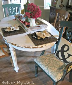 """DIY::""""Craig's List Cheapo Dining Room Table Makeover"""""""