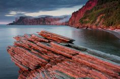 Sunrise at Cap Bon Ami, Forillon National Park, Quebec, Canada Canada Travel, Travel Usa, Parks Canada, Qc Canada, Yellowstone Camping, Parc National, Quebec City, Parcs, Walking In Nature