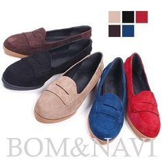 NEW Women Suede Loaper Handmade leather Ladies shoes&beatiful  5Color #HandmadeBomNavi #LoafersMoccasins
