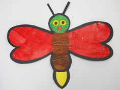 Cute art idea for The Very Lonely Firefly by Eric Carle