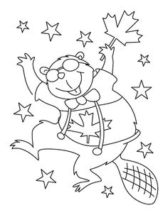 Hilarious Canadian Beaver Dancing on Memorable Canada Day Coloring Pages Dance Coloring Pages, Ninjago Coloring Pages, Mickey Mouse Coloring Pages, Farm Animal Coloring Pages, Baby Coloring Pages, Superhero Coloring, Dog Coloring Page, Online Coloring Pages, Free Printable Coloring Pages