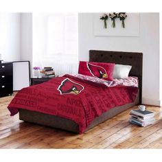 NFL Arizona Cardinals Bed in a Bag Complete Bedding Set - Walmart.com ffc217366