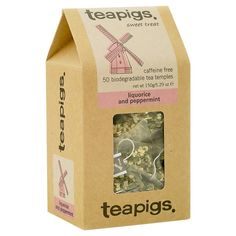 Teapigs liquorice and peppermint tea - the only herbal/fruit tea that tastes as good as it smells!