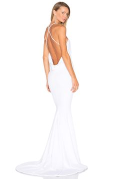 Gemeli Power Barthelemy Gown in Matte Crepe White | REVOLVE
