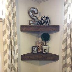 This item is unavailable Wood Corner Shelves, Rustic Wooden Shelves, Reclaimed Wood Frames, Wood Wall Shelf, Wall Shelves, Corner Shelf, Shelf Board, Wood Pallets, Floating Shelves