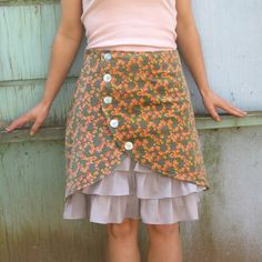 Briar Rose ruffle front skirt Sz 6 by LoveToLoveYou on Etsy, $72.00