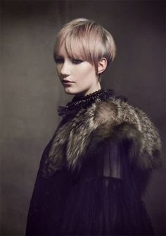 Dirty Fabulous fur collar. Art Nouveau shoot by Gerry Balfe Smyth,  image styled by Roxanne Parker