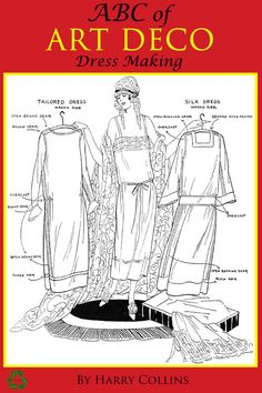 ABC of Art Deco Dress Making Printable 140 Pages of by HowToBooks