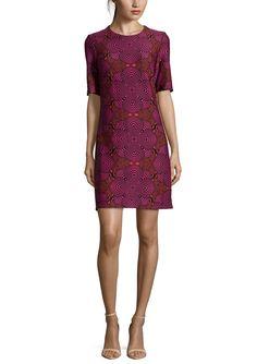 TAYLOR Elbow Sleeve Printed Sheath Dress | ideel