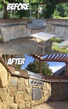 Outdoor Kitchen Renovation (Before & After)