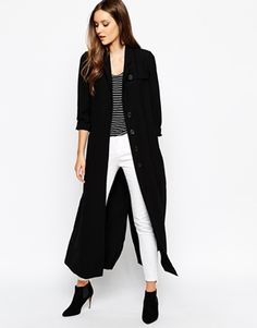 ultimate full lenght coat: Just Female Silvia Trench in Maxi Length