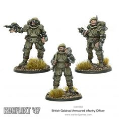 British Galahad Armoured Infantry Officers by Warlord Games Bolt Action Miniatures, Doctor Who Logo, 40k Imperial Guard, Model Supplies, Alternate History, Dalek, Space Marine, Dieselpunk, Rpg