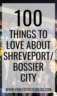 Whether you're a long-time resident or just visiting Shreveport/Bossier City in Louisiana for a day or two, there's no shortage of things to do and things to love about the city. Check out this list of 100 things to love about Shreveport/Bossier City! Bossier City Louisiana, Louisiana Bayou, Shreveport Louisiana, Louisiana History, Natchez Trace, North And South America, City Maps, Best Places To Eat, Best Cities