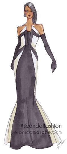 About that gown in last night's Scandal... you know I had to sketch it!