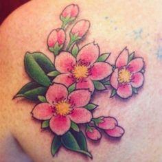 My Cherry Blossoms tattoo
