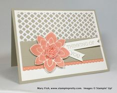 I like the way Mary used the silk flower in the middle. Stampin up stampin' up! stamping up stampinup crazy about you mary fish