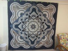 Glacier Star, Quiltworx.com, Made by Lisa Moore.