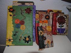 Libretas artesanales, semillas y papel reciclado. Diferentes modelos.