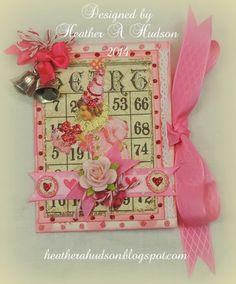Heather A Hudson: Vintage Bingo Bag Holder and Card, New Collage sh. Vintage Valentines, Valentine Crafts, Valentine Day Cards, Be My Valentine, Bingo Bag, Bingo Cards, Ribbon Crafts, Paper Cards, Vintage Cards