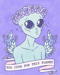 alien, alternative, background, blue, cute - image #3914055 by ...