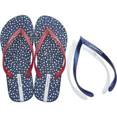 Tongs Ipanema - Sandales et tongues Ipanema Ipanema Flip Flops, White Strappy Sandals, Navy Sandals, Shoes Sandals, Ipanema Sandals, White Flip Flops, Bleu Marine, Flip Flop Sandals, Bikinis